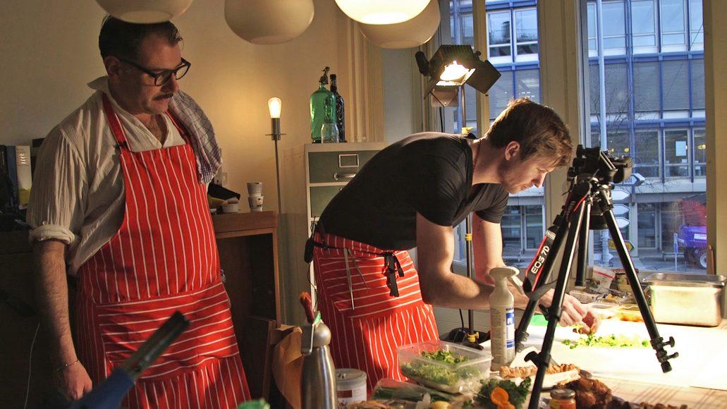 Manifesta 11, Zurich, 2016. John Arnold and Fabian Spiquel, Michelin-starred chef, Imbissy. Photo © Manifesta 11