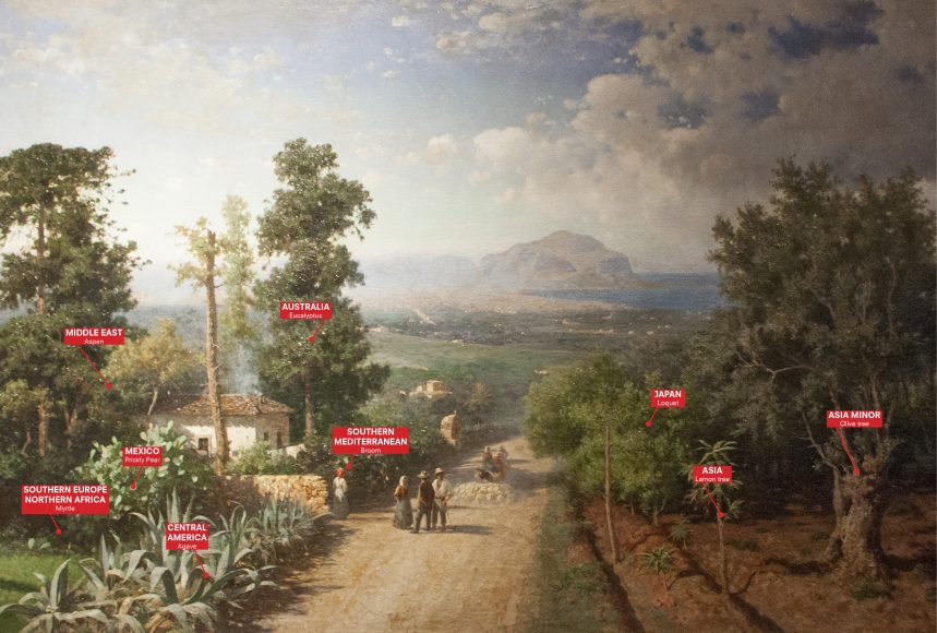 Veduta di Palermo, Francesco Lojacono, 1875; Palermo Atlas, courtesy OMA for Manifesta 12