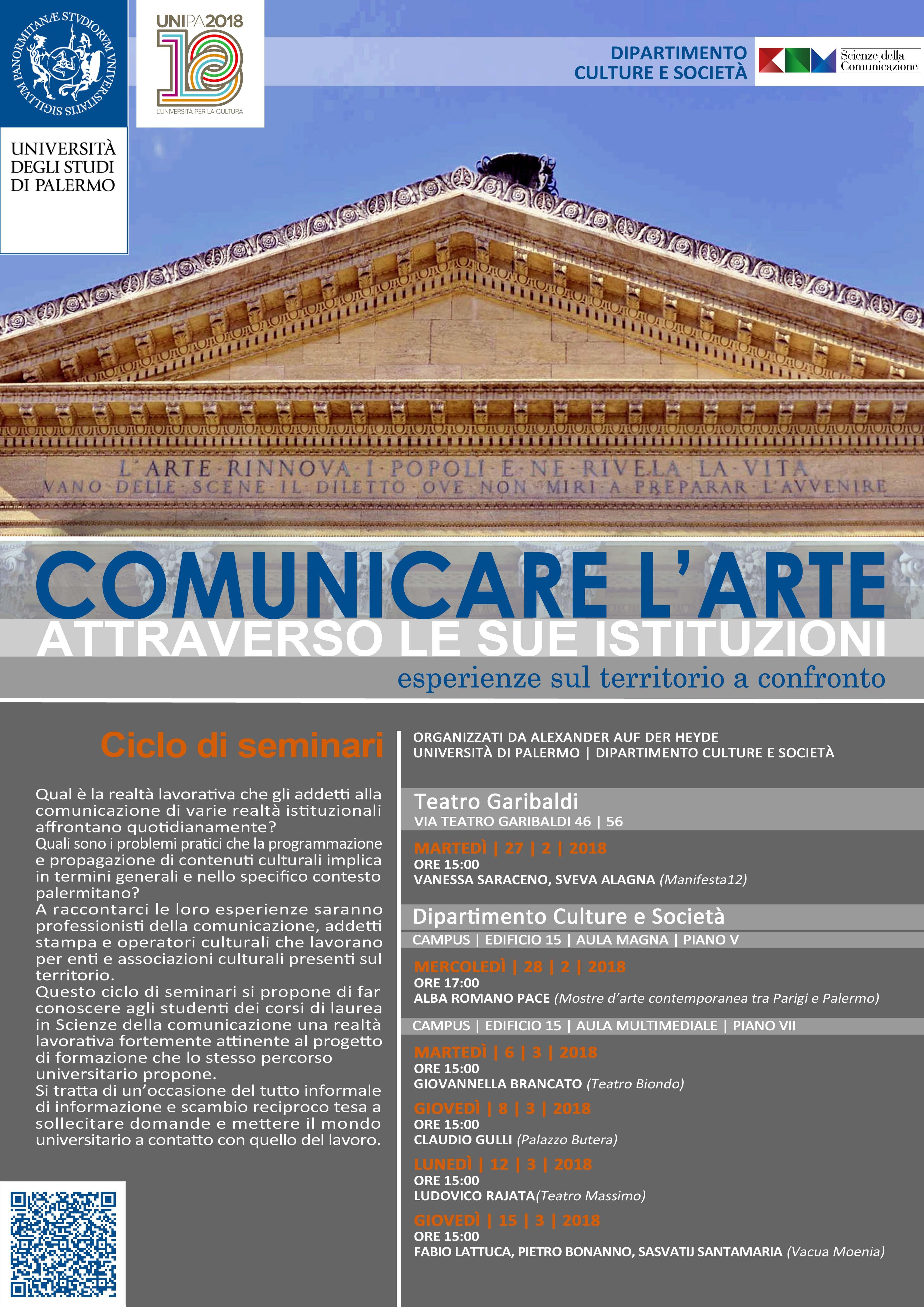 Ciclo di Incontri: Comunicare l'Arte attraverso le sue istituzioni